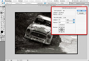 Tutorial Photoshop Retouche Photo : Marge blanche et Filet noir